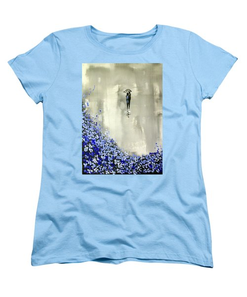 Lady In Blue Women's T-Shirt (Standard Cut) by Raymond Doward