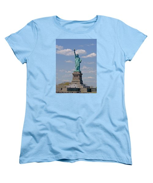 Women's T-Shirt (Standard Cut) featuring the photograph Lady Liberty by Helen Haw