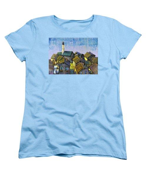 Lago   Caldonazza Women's T-Shirt (Standard Cut) by Mikhail Zarovny