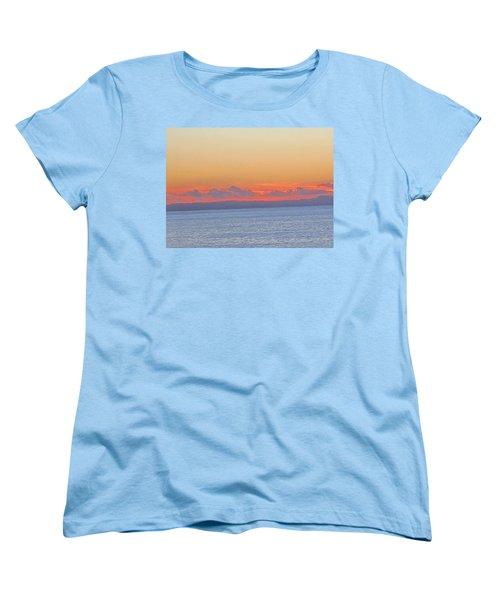 Laguna Orange Sky Women's T-Shirt (Standard Cut) by Dan Twyman