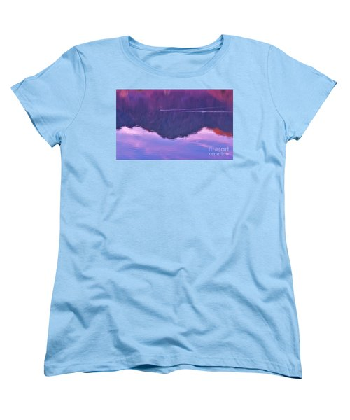 Lake Cahuilla Reflection Women's T-Shirt (Standard Cut) by Michele Penner