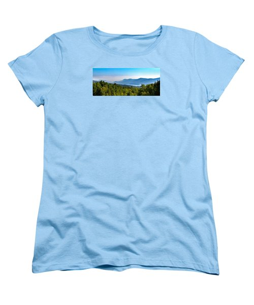 Lake George, Ny And The Adirondack Mountains Women's T-Shirt (Standard Cut) by Brian Caldwell