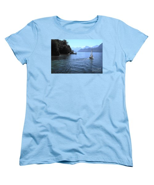 Lake Lucerne Women's T-Shirt (Standard Cut) by Therese Alcorn