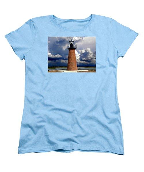 Lake Toho Lighthouse 002  Women's T-Shirt (Standard Cut) by Chris Mercer