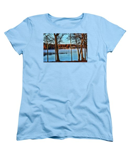 Women's T-Shirt (Standard Cut) featuring the photograph Lake Vapors by Rick Friedle