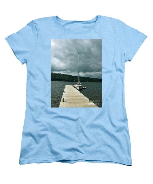 Lake Windermere Women's T-Shirt (Standard Cut) by Mini Arora