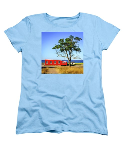 Women's T-Shirt (Standard Cut) featuring the photograph Lakefront In Glen Arbor by Alexey Stiop