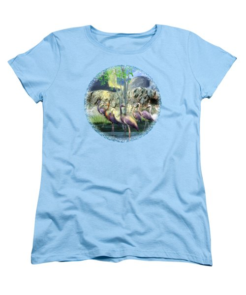 Lakeside View Women's T-Shirt (Standard Cut) by Sharon and Renee Lozen