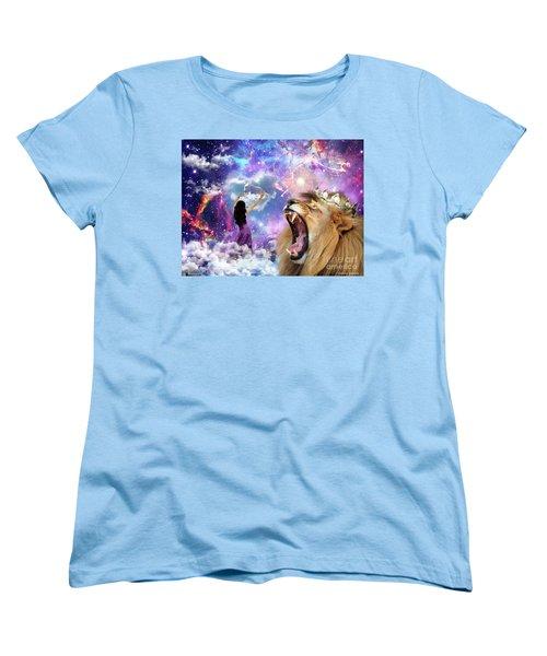 Women's T-Shirt (Standard Cut) featuring the digital art Lamb Of God by Dolores Develde