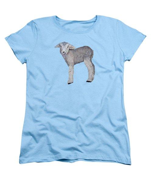 Lamb Women's T-Shirt (Standard Cut) by Petra Stephens