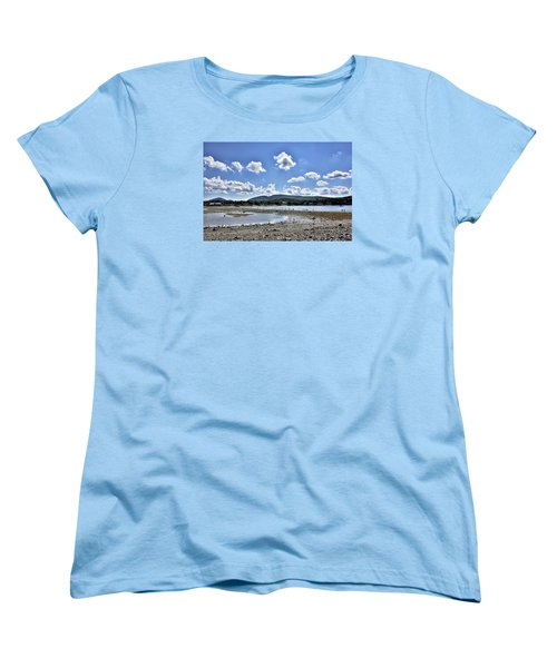Land Bridge From Bar Harbor To Bar Island - Maine Women's T-Shirt (Standard Cut) by Brendan Reals