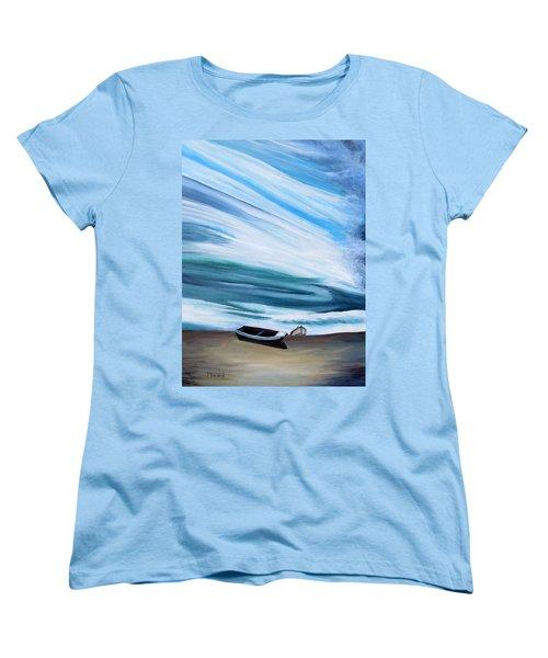 Land Meets Sky Women's T-Shirt (Standard Cut) by Marilyn  McNish