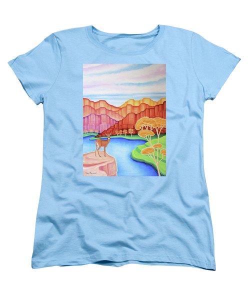 Land Of Enchantment Women's T-Shirt (Standard Cut) by Tracy Dennison