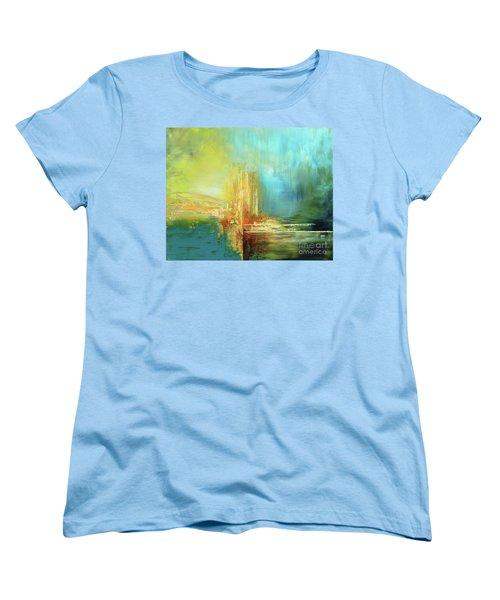 Women's T-Shirt (Standard Cut) featuring the painting Land Of Oz by Tatiana Iliina