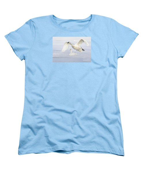 Women's T-Shirt (Standard Cut) featuring the photograph Landing In The Cold by Larry Ricker