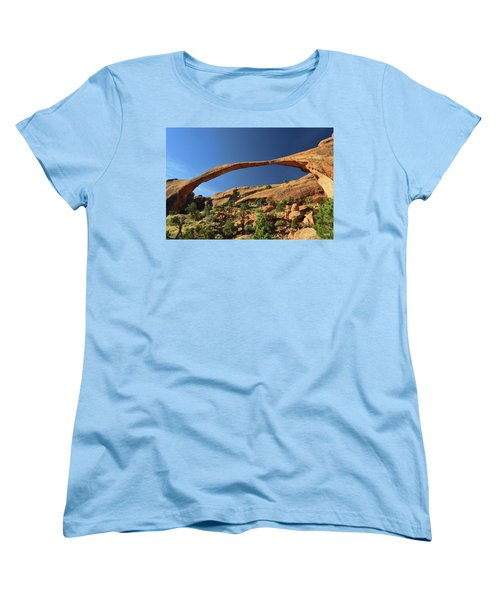 Women's T-Shirt (Standard Cut) featuring the photograph Landscape Arch by Dana Sohr