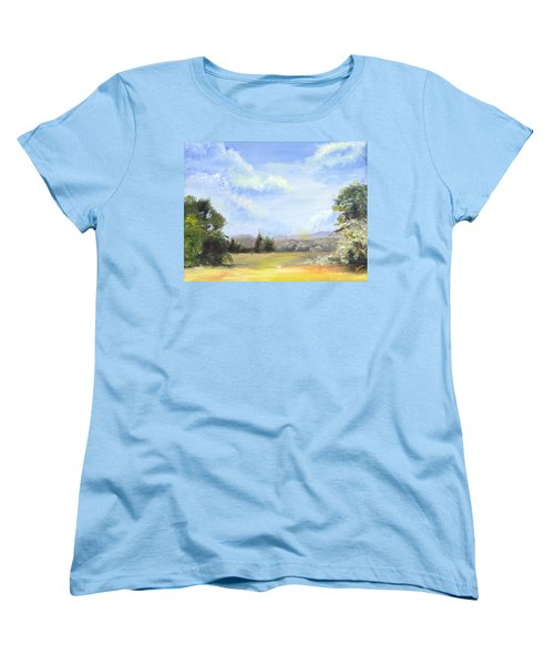 Women's T-Shirt (Standard Cut) featuring the painting Lapoint Utah by Jane Autry