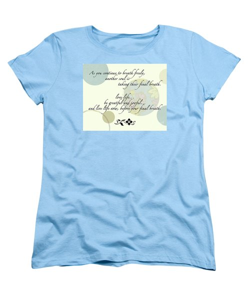 Last Breath Women's T-Shirt (Standard Cut) by Renie Rutten