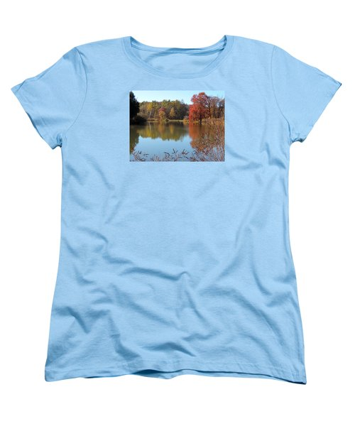 Women's T-Shirt (Standard Cut) featuring the photograph Last Colors Of Fall by Teresa Schomig