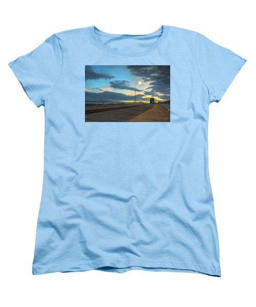 Last Light And Color Over Walnut Women's T-Shirt (Standard Cut) by Steven Llorca