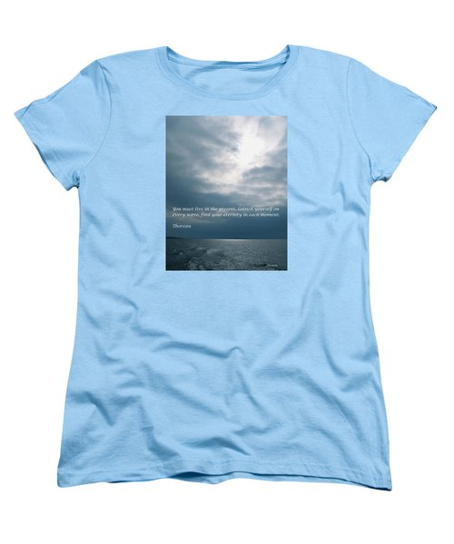Launch Yourself On Every Wave Women's T-Shirt (Standard Cut) by Deborah Dendler