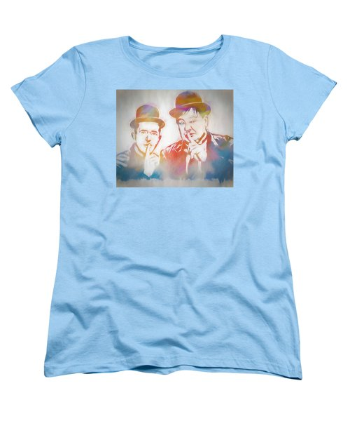 Laurel And Hardy Women's T-Shirt (Standard Cut) by Dan Sproul