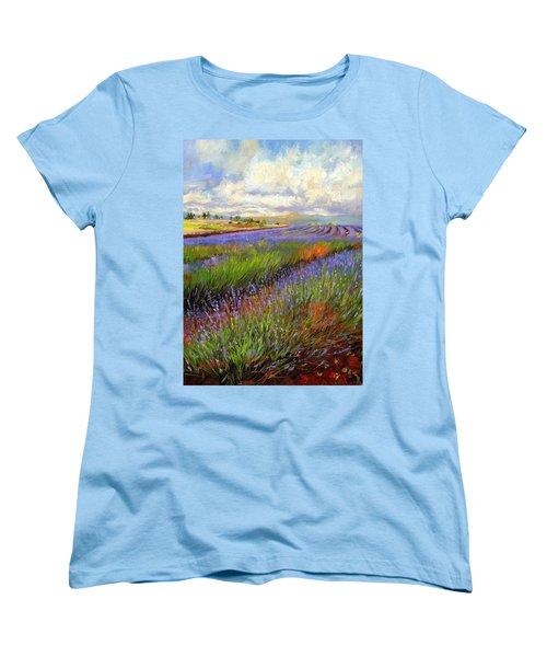 Lavender Field Women's T-Shirt (Standard Cut)