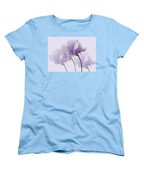 Lavender Roses  Women's T-Shirt (Standard Cut) by Rosalie Scanlon