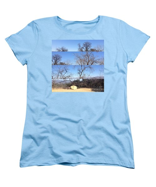 Women's T-Shirt (Standard Cut) featuring the photograph Layered Perspectives by Nora Boghossian