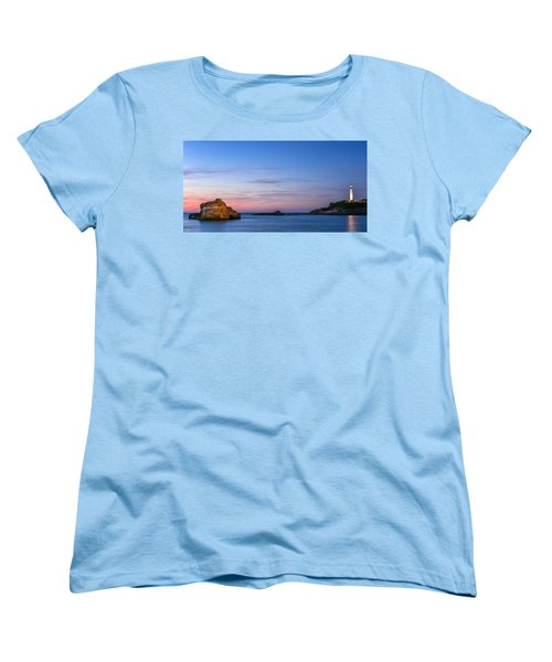 Women's T-Shirt (Standard Cut) featuring the photograph Le Phare De Biarritz by Thierry Bouriat