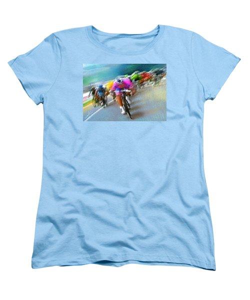 Le Tour De France 09 Women's T-Shirt (Standard Cut) by Miki De Goodaboom