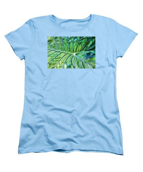 Leaf Pattern Women's T-Shirt (Standard Cut)