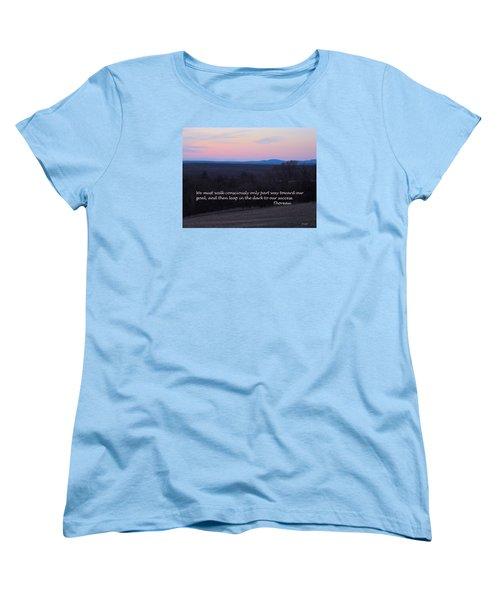 Leap In The Dark Women's T-Shirt (Standard Cut) by Deborah Dendler