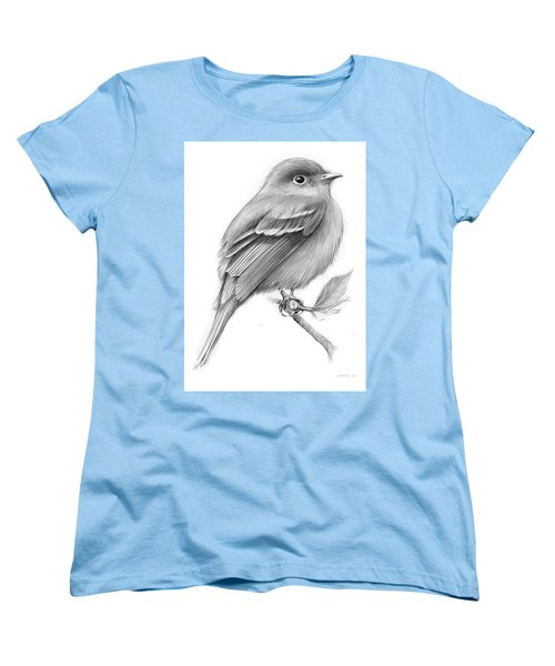 Least Flycatcher Women's T-Shirt (Standard Cut) by Greg Joens