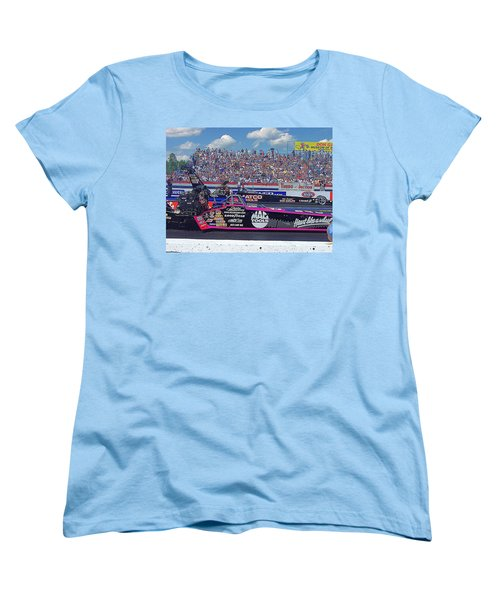 Women's T-Shirt (Standard Cut) featuring the photograph Legends At The Line by Jerry Battle