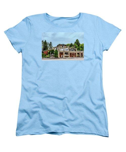 Women's T-Shirt (Standard Cut) featuring the photograph Legs Inn Of Cross Village by Bill Gallagher