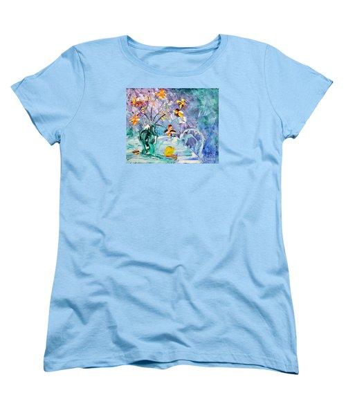 Lemon For Tea Women's T-Shirt (Standard Cut) by Lynda Cookson