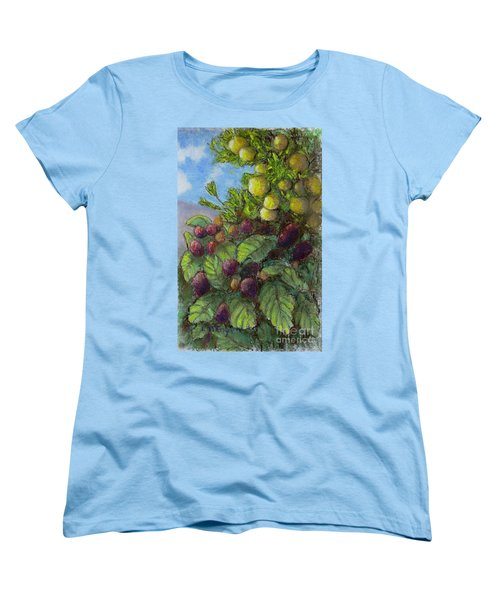 Lemons And Berries Women's T-Shirt (Standard Cut) by Laurie Morgan