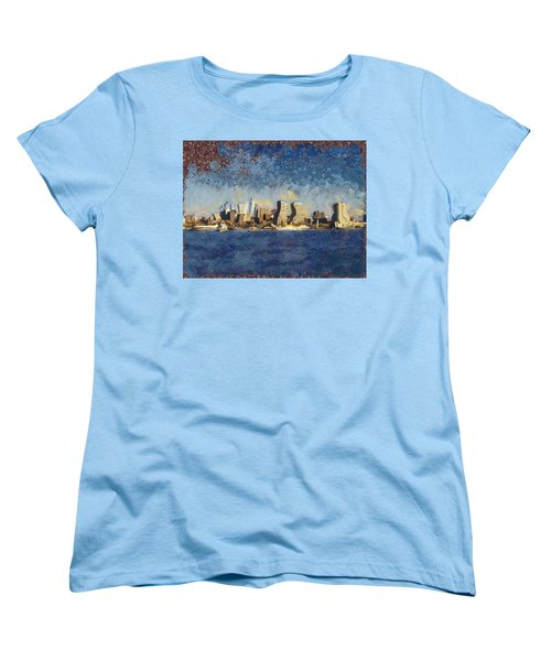 Less Wacky Philly Skyline Women's T-Shirt (Standard Cut) by Trish Tritz