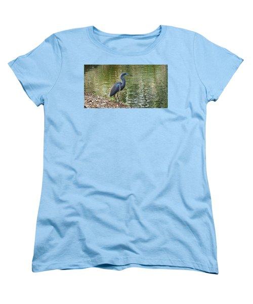 Lesser Blue Heron In Mating Plumage Women's T-Shirt (Standard Cut) by Judy Wanamaker