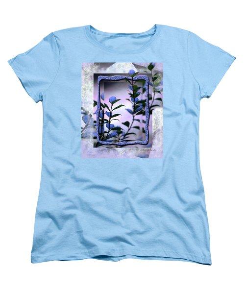 Women's T-Shirt (Standard Cut) featuring the digital art Let Free The Pain by Vicki Ferrari