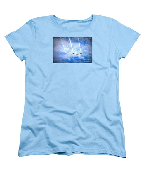 Women's T-Shirt (Standard Cut) featuring the photograph Let Your Dreams Take Flight by Shelia Kempf