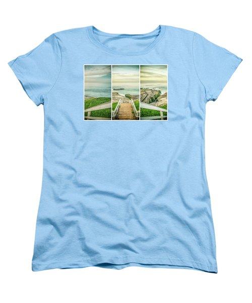 Let's Go Down To Windansea Women's T-Shirt (Standard Cut) by Joseph S Giacalone