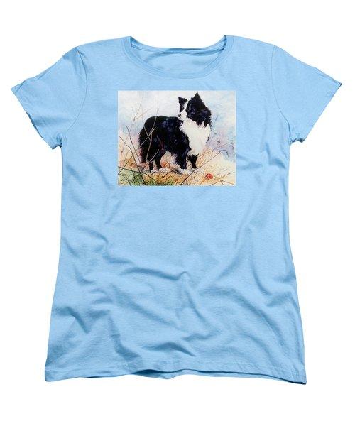 Let's Play Ball Women's T-Shirt (Standard Cut) by Hanne Lore Koehler