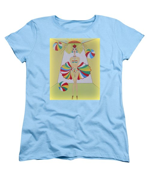 Women's T-Shirt (Standard Cut) featuring the painting Let's Play Balls by Marie Schwarzer
