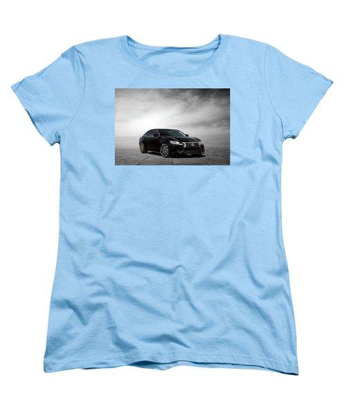 Women's T-Shirt (Standard Cut) featuring the digital art Lexus Gs350 F Sport by Peter Chilelli