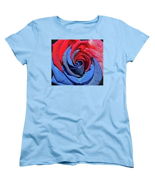 Women's T-Shirt (Standard Cut) featuring the photograph Liberty Rose by Judy Vincent