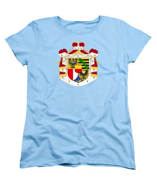 Women's T-Shirt (Standard Cut) featuring the drawing Liechtenstein Coat Of Arms by Movie Poster Prints