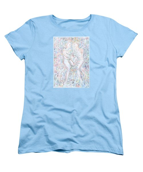 Women's T-Shirt (Standard Cut) featuring the mixed media Life Series 1 by Giovanni Caputo