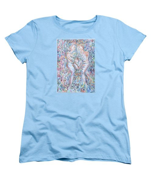 Women's T-Shirt (Standard Cut) featuring the mixed media Life Series 2 by Giovanni Caputo